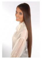 24 Inches Full Head 6 pcs Clip in Human Hair Extensions