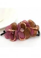 Fashionable Chiffon Crystal Beads Hair Clips For Women