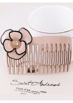 Hand Carving Austrian Crystal Inlaid Hair Combs