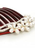 Retro Austrian Diamond Imitated Pearl Hair Combs For Women