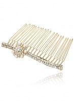 2014 New Arrival Unique Rose Pearl Rhinestone Hair Combs