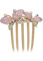 Unique Butterfly Shape Crystal Comb Rhinestone Hair Combs