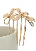 Women's Popular Rhinestone Clover Flower Hair Combs