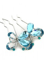 New Arrival Lovely Rhinestone Butterfly Hair Combs For Lovers