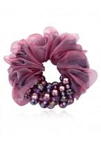 Pure Hand Made Beads Headdress Flower Crystal Yarn Scrunchies