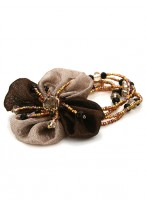 Unique Blossoming Flowers Shape Rhinestone Scrunchies For Girls