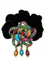 Gorgeous Diamond Inalid Agate Flower Shape Scrunchies For Women