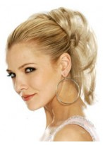 Spring Claw Clip - Drawstring Clip in Hairpiece