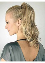 """14"""" Wavy With Claw-Clip Attachment Synthetic Ponytail"""