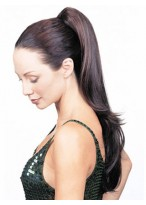 "Clearance 20"" Natural Straight With Claw Comb Synthetic Ponytail"