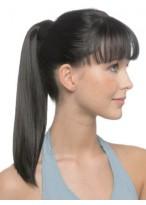 "18"" Sleek Straight With Pressure Clip Human Hair Ponytail"