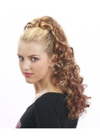 """22"""" Curly Synthetic Ponytail With Drawstring"""