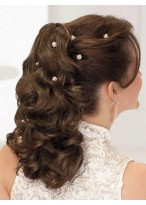 """18"""" Curly Built-in Clip Synthetic Ponytail"""