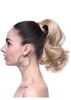 Fashion Synthetic Short Wavy Blonde Ponytail