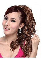 Long High Quality Synthetic Curly Ponytail