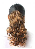 Beautiful Synthetic Curly Dark Brown Ponytail