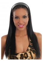 Shining Long Straight Synthetic Half Wig