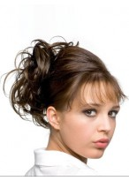 """10"""" Soft Wave Human Hair Wrap With Butterfly Clip"""