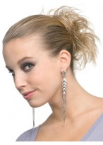 Straight Sleek Layers Scrunchie Style Synthetic Wrap
