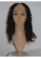 Tight Spiral Curls Remy Hair U Part Wig