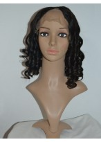Shoulder Length Remy Human Hair U Part Wig
