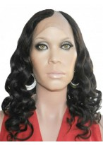 Spiral Curls Lace Front U Part Human Hair Wig