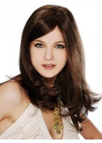 Remy Hair Full Lace Long Wig with bangs