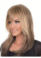 Long Club Full Lace Wig with Bangs