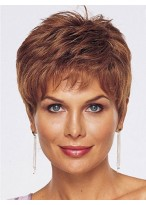Short Hand Tied Lace Front Human Hair Wig