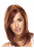 Shoulder Length 100% Human Hair Lace Front Wig