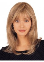 Mid Length 100% Human Hair Lace Front Layered Wig