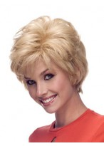Short 100% Remy Human Hair Hand Tied Lace Front Wig
