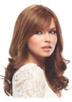 Long 100% Human Hair Wavy Lace Front Wig