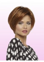 "8"" Straight Bob Style Lace Front Human Hair Wig"