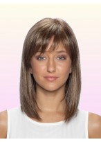 """14"""" Mid-Length Lace Front Human Hair Wig"""