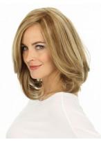 "12"" Lace Front Shoulder Length Wavy Human Hair Wig"