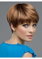 Modern Short Straight Human Hair Wig
