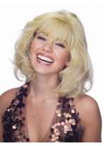 Mid-Length Wavy Lace Front Human Hair Wig