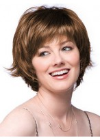 Feathered Layer Cut Short Lace Front Wig