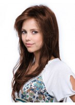 Long Straight Relaxed Layers Human Hair Wig