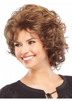 Mid Length Synthetic Curly Classic Wig