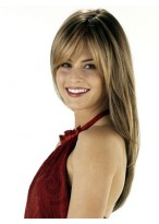 """24"""" Silky Human Hair Straight With Layered Wig"""