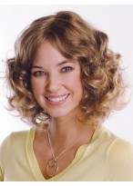 Mid-Length Wavy Remy Human Hair Wig