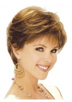 Short Feather Cut Long Neck Line Synthetic Wig