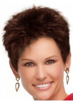 Short Boy Cut Synthetic Capless Wig