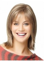 Shoulder Length Angled-Cut Human Hair Wig