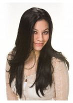 Natural Extra Long Straight Synthetic Wig