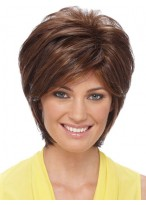 Short Sassy Shag With Soft Layeres Synthetic Wig