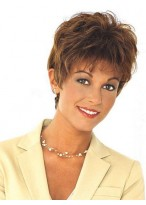 Short Wavy Full Lace Human Hair Wig