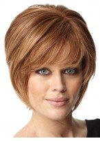 Short Soft Layers Human Hair Capless Wig
